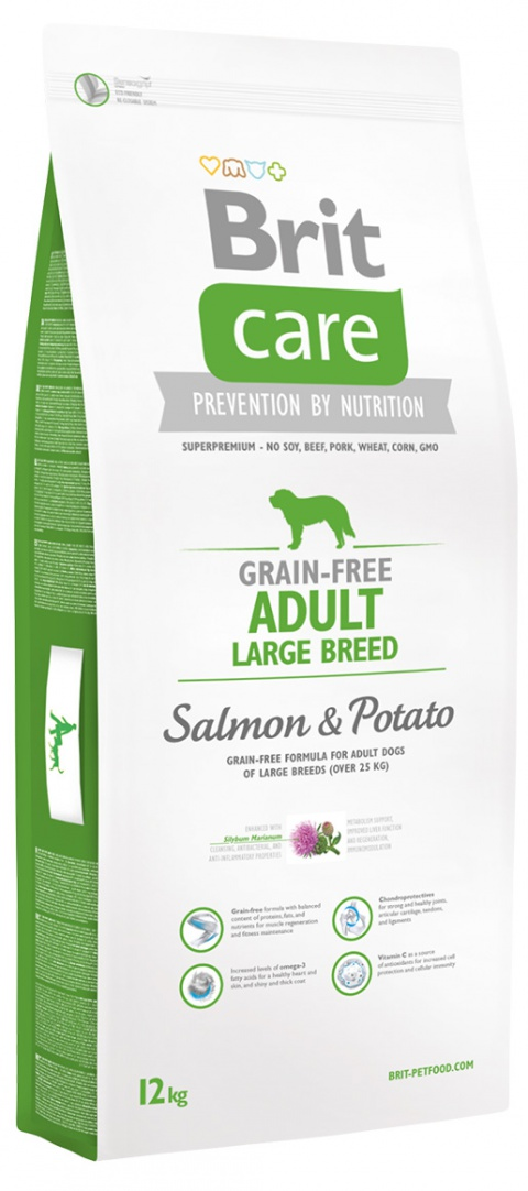 BRIT Care dog Grain free Adult Large Breed Salmon & Potato 12 kg