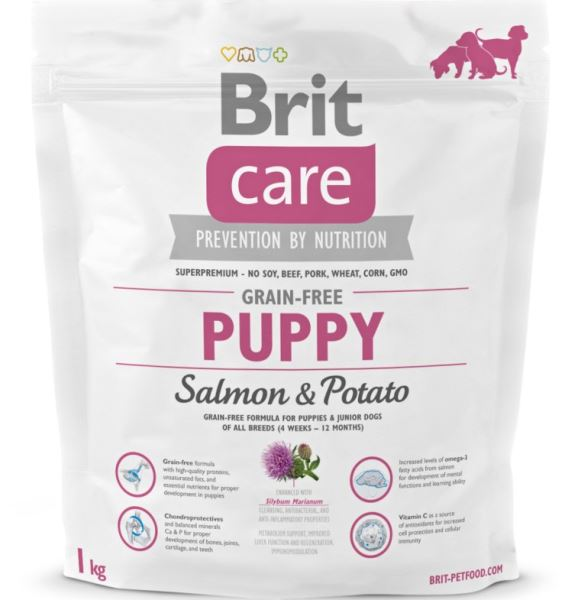 BRIT Care dog Grain free Puppy Salmon & Potato 1 kg