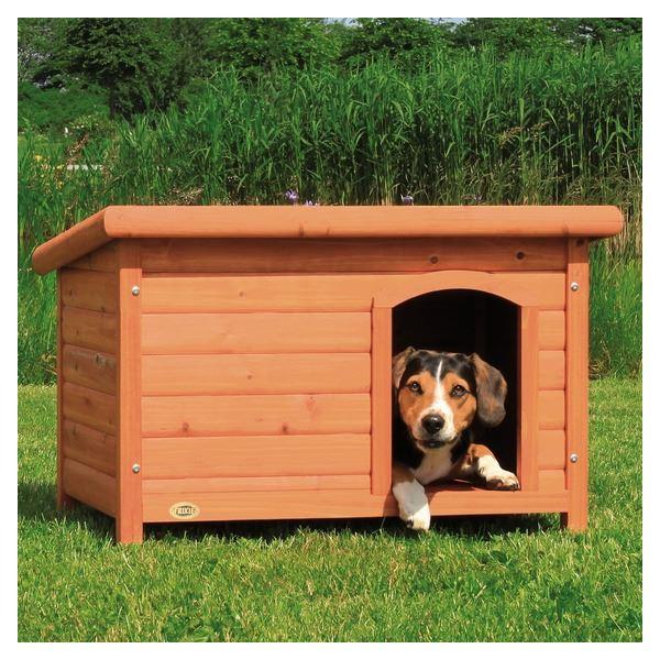 Búda pre psa, drevená, rovná strecha Trixie M 85x58x60cm