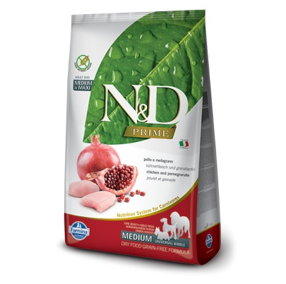 N&D dog PRIME adult medium&maxi chicken&pomegranate 2,5 kg