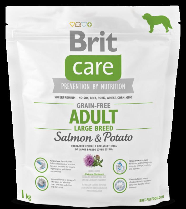 BRIT Care dog Grain free Adult Large Breed Salmon & Potato 1 kg