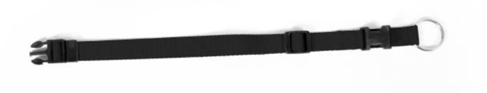 Obojok DUVO+ Nastaviteľný nylon 40-65 cm/ 25 mm - Čierny