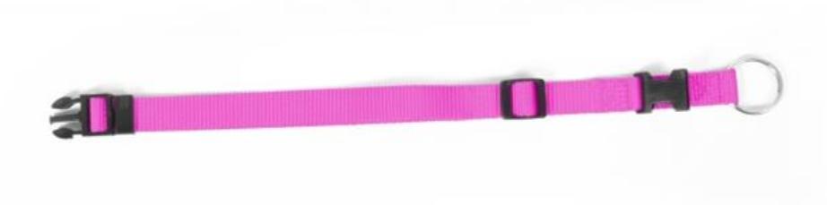 Obojok DUVO+ Nastaviteľný nylon 40-65 cm/ 25 mm - Ružový