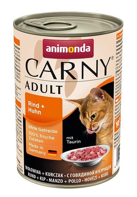 Animonda CARNY® cat Adult hovädzie a kura 400 g konzerva
