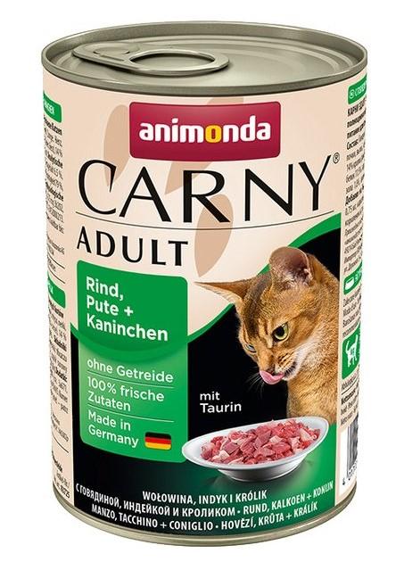 Animonda CARNY® cat Adult hovädzie,morka a králik 400 g konzerva