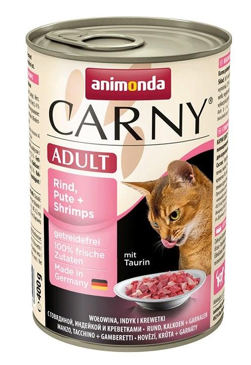 Animonda CARNY® cat Adult hovädzie,morka a krevety 400 g konzerva