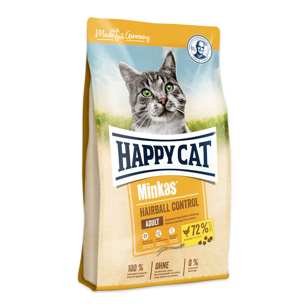Happy cat Minkas Hairball Control Geflügel 10 kg