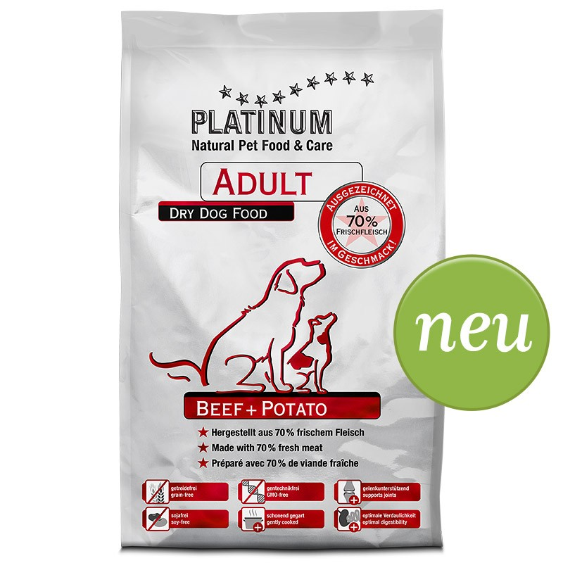 Platinum Natural Adult Hovädzie so Zemiakmi 5 kg
