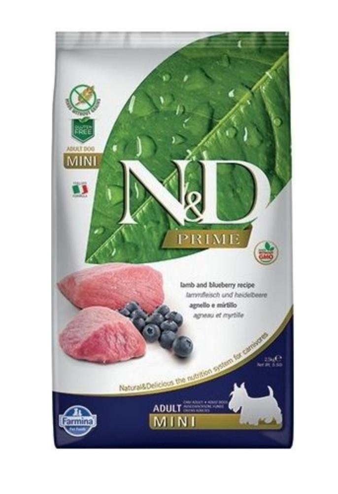 N&D dog PRIME (GF) adult mini lamb&blueberry 2,5 kg