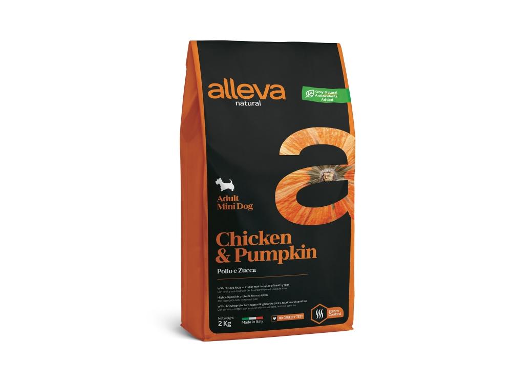 Alleva NATURAL dog chicken&pumpkin adult mini 2 kg