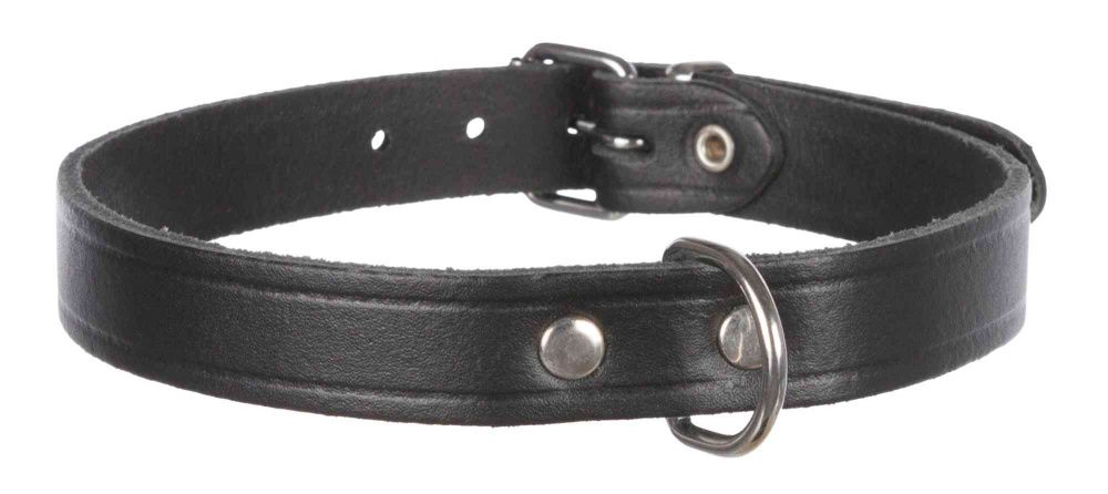 Trixie obojok kožený Basic XS 19-24cm - Čierny