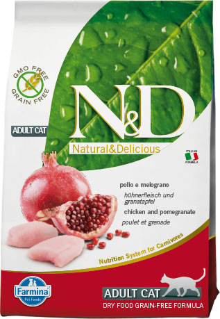 N&D cat GF adult chicken&pomegranate 1,5kg