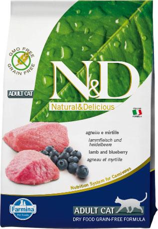 N&D cat Prime (GF) adult lamb&blueberry 1,5 kg