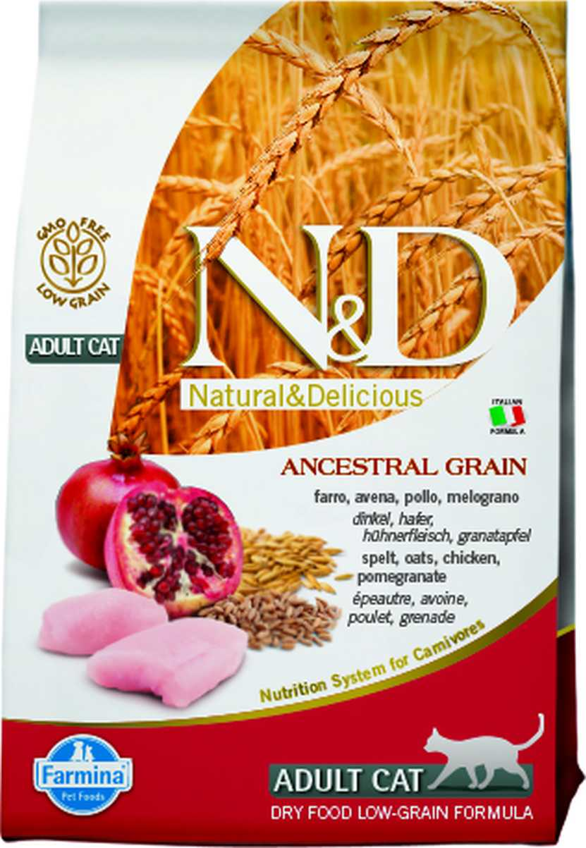 N&D cat LG adult chicken&omegranate 1,5 kg