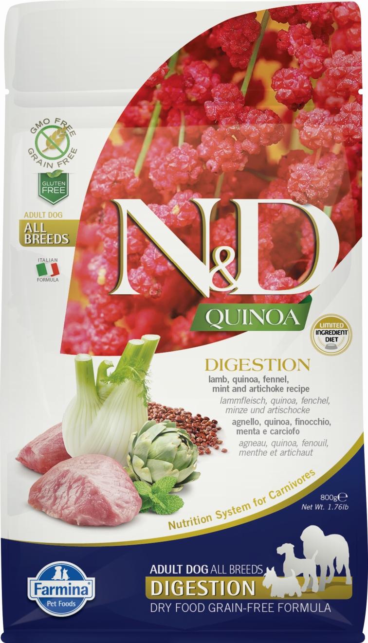 N&D dog GF QUINOA Digestion Lamb 2,5 kg