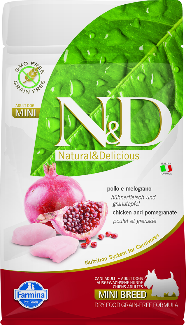 N&D dog PRIME (GF) adult mini Chicken & pomegranate 2,5 kg