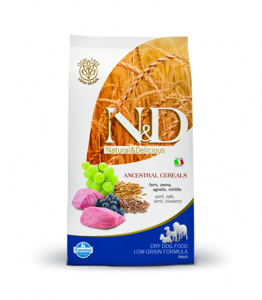 N&D dog LG adult medium&maxi lamb, spelt, oats and blueberry 12 kg