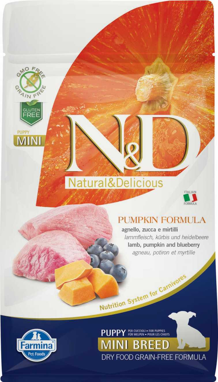N&D dog GF PUMPKIN puppy mini lamb & blueberry 2,5 kg