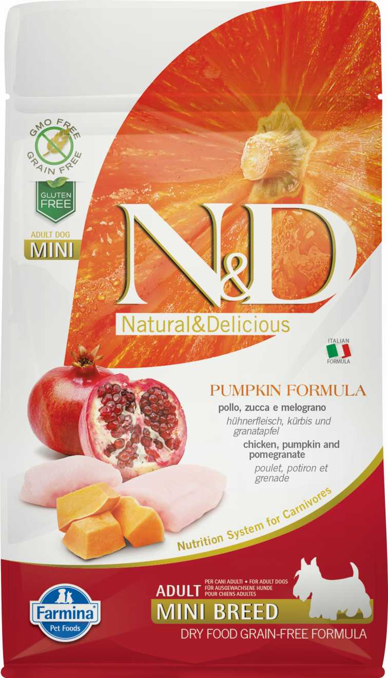 N&D dog GF PUMPKIN adult mini chicken&pomegranate 2,5 kg