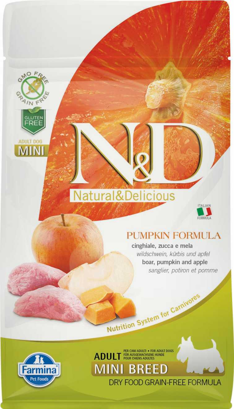 N&D dog GF PUMPKIN adult mini boar & apple 2,5 kg