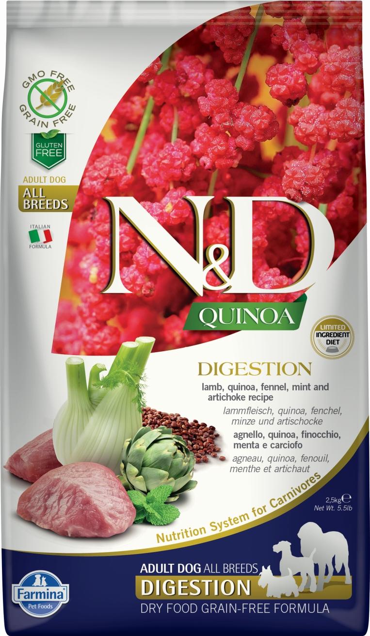 N&D dog GF QUINOA Digestion Lamb 7 kg