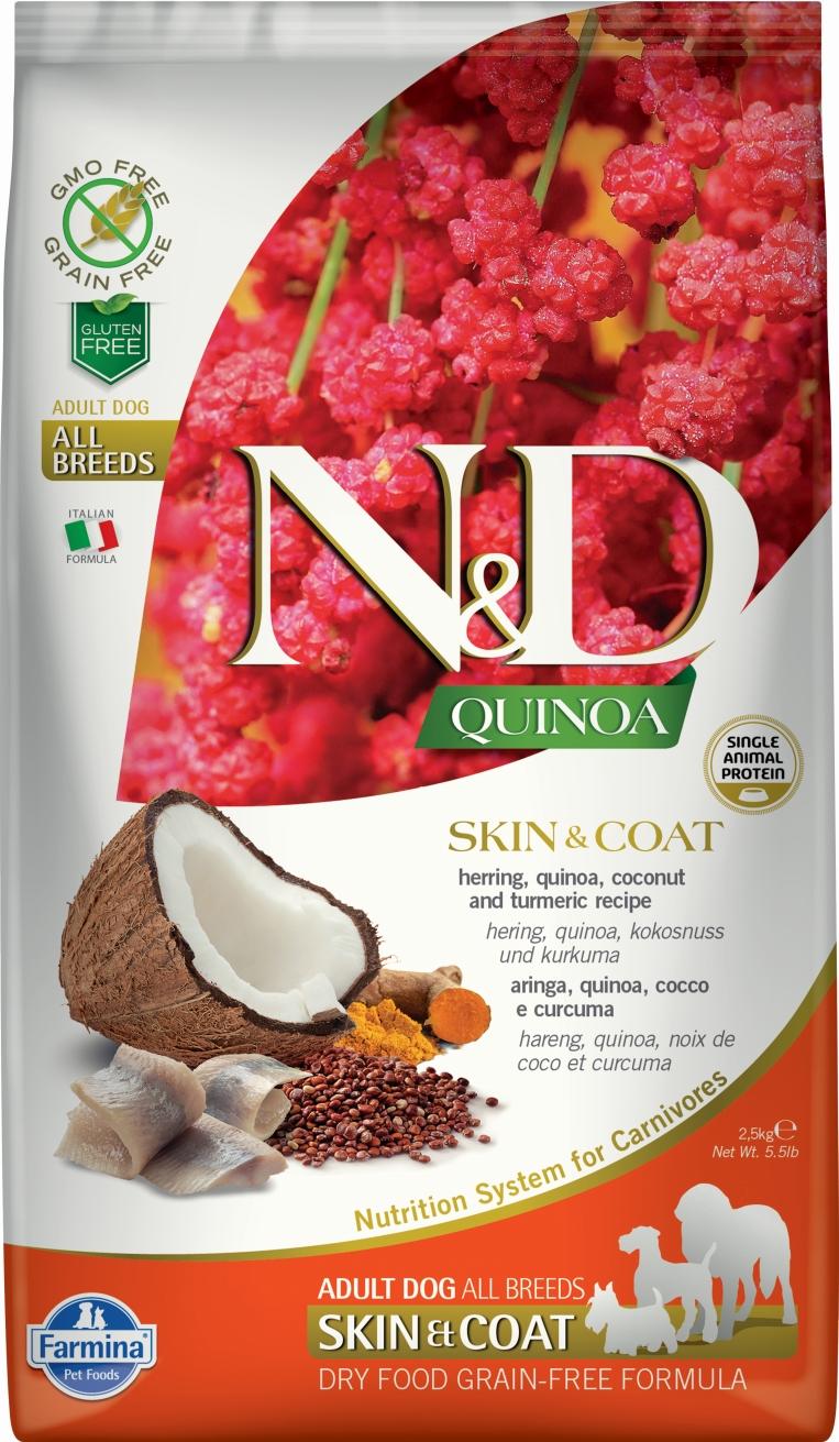 N&D dog GF QUINOA Skin&Coat Herring 7 kg