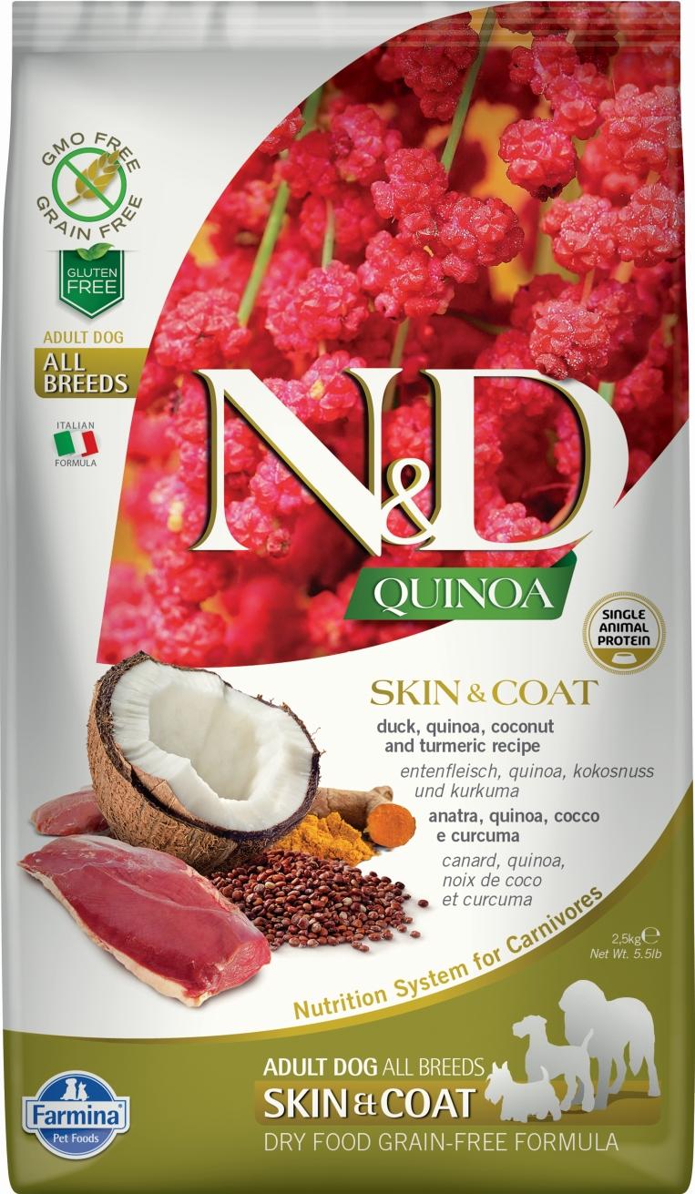 N&D dog GF QUINOA Skin&Coat Duck 7 kg