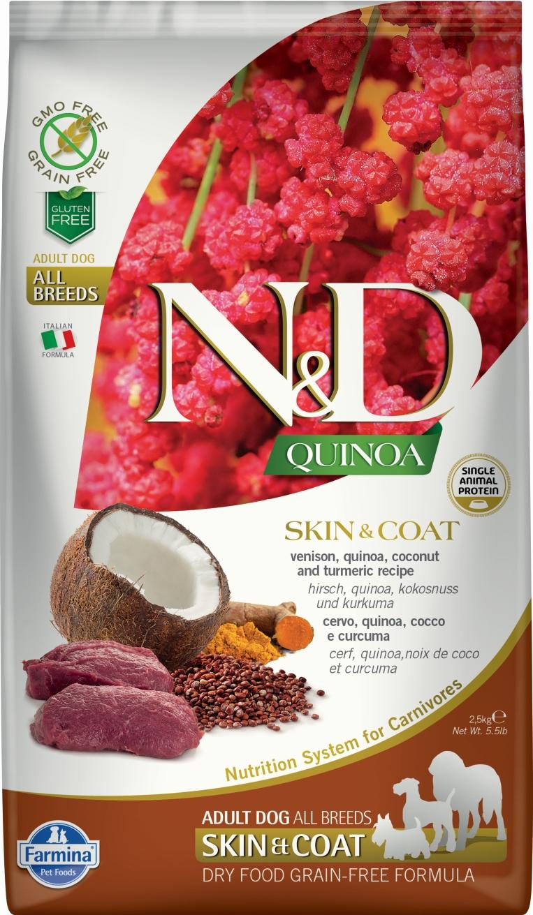 N&D dog GF QUINOA Skin&Coat Venison 7 kg