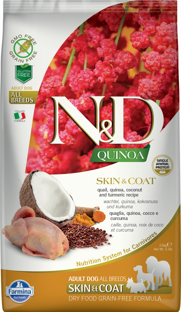 N&D dog GF QUINOA Skin&Coat Quail 7 kg