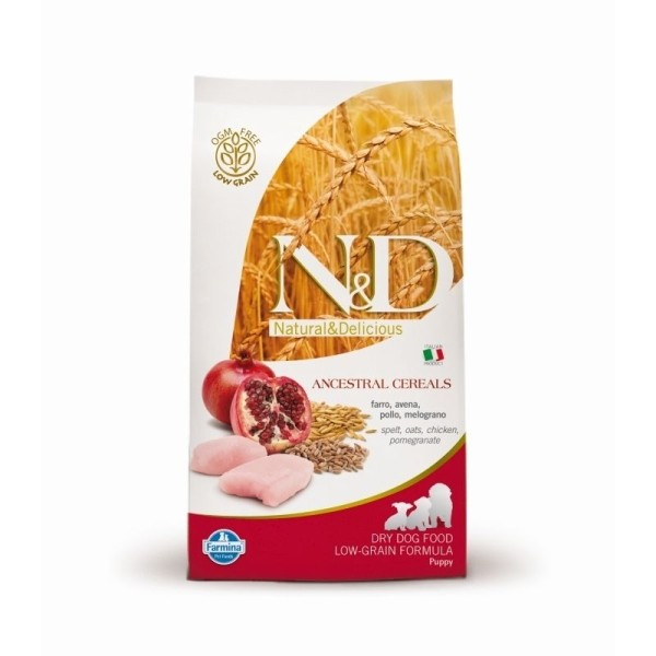N&D dog LG puppy mini chicken&pomegrante 7 kg