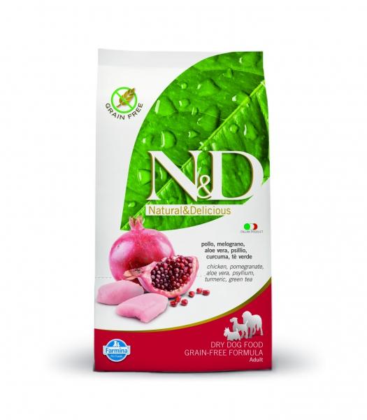 N&D dog GF adult maxi chicken&pomegranate 12 kg