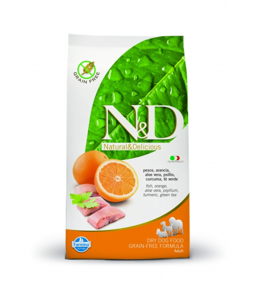 N&D dog GF adult medium fish&orange 12 kg