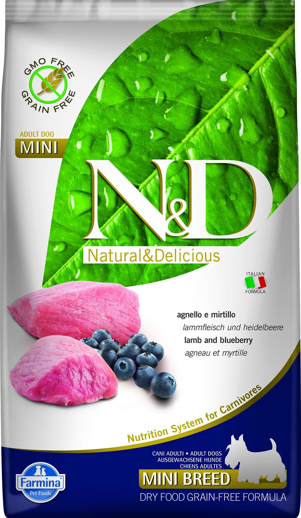 N&D dog GF adult mini lamb&blueberry 7 kg