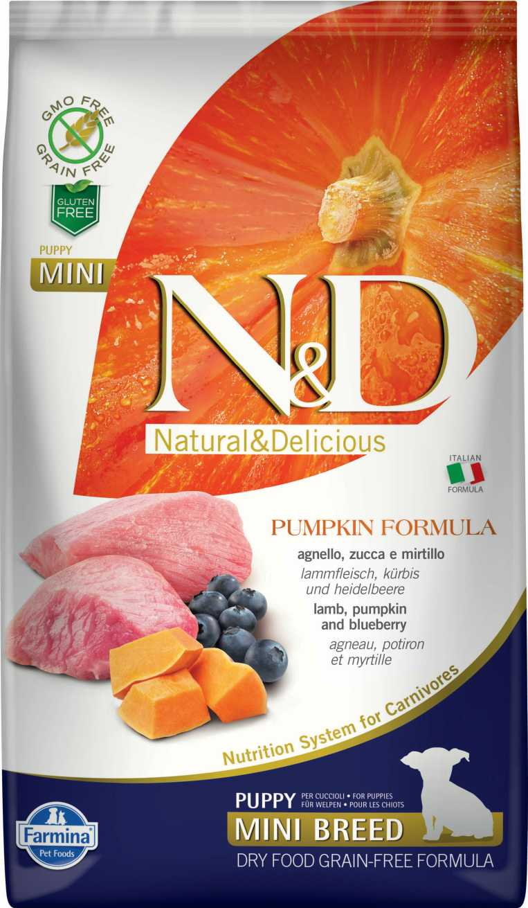 N&D dog GF PUMPKIN puppy mini lamb & blueberry 7 kg