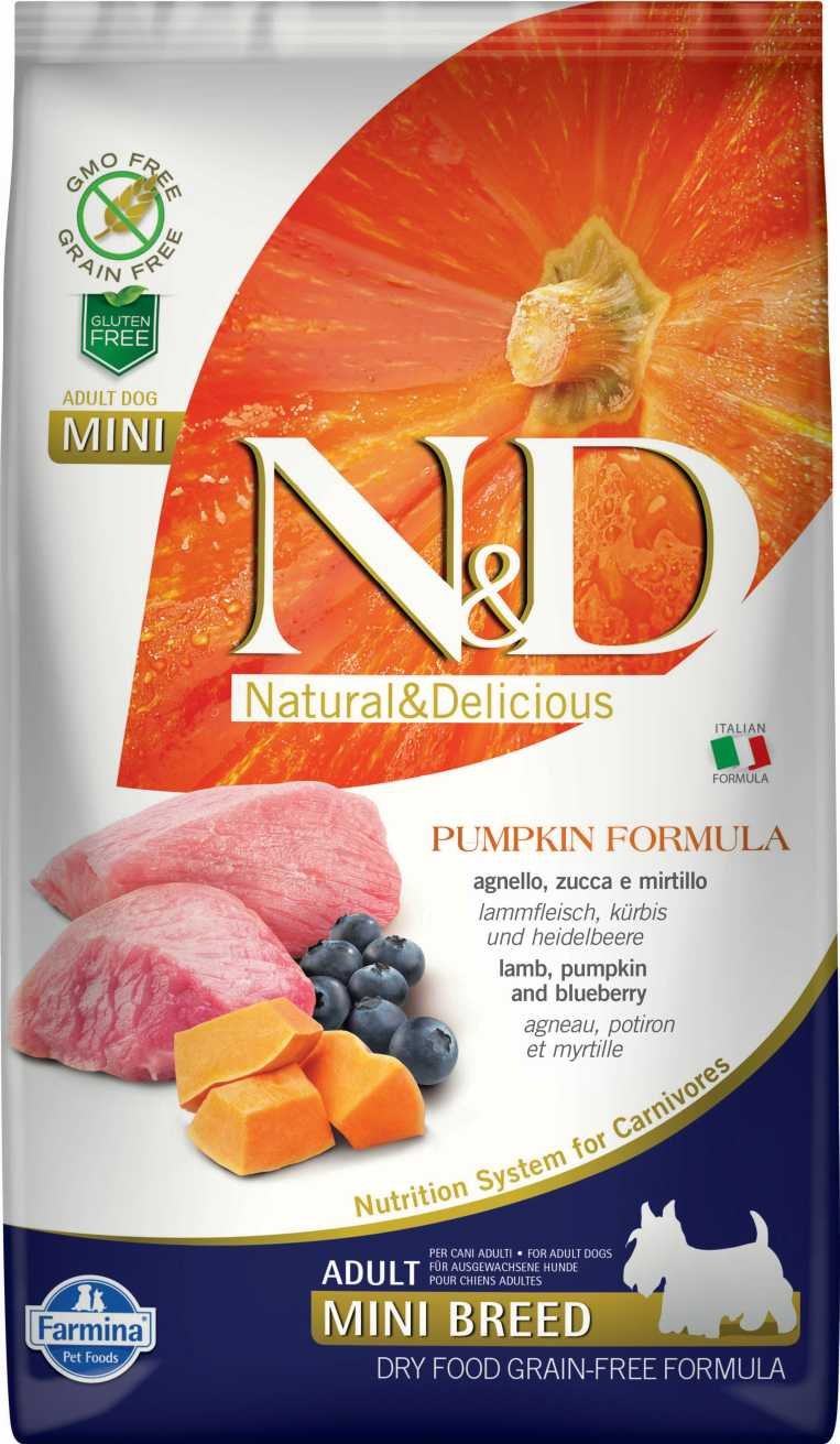 N&D dog GF PUMPKIN adult mini lamb & blueberry 7 kg
