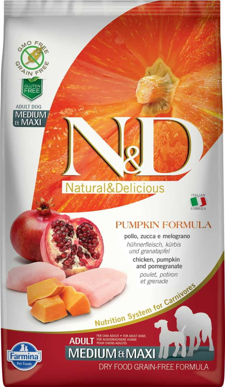 N&D dog GF PUMPKIN adult medium & maxi chicken&pomegranate 12 kg