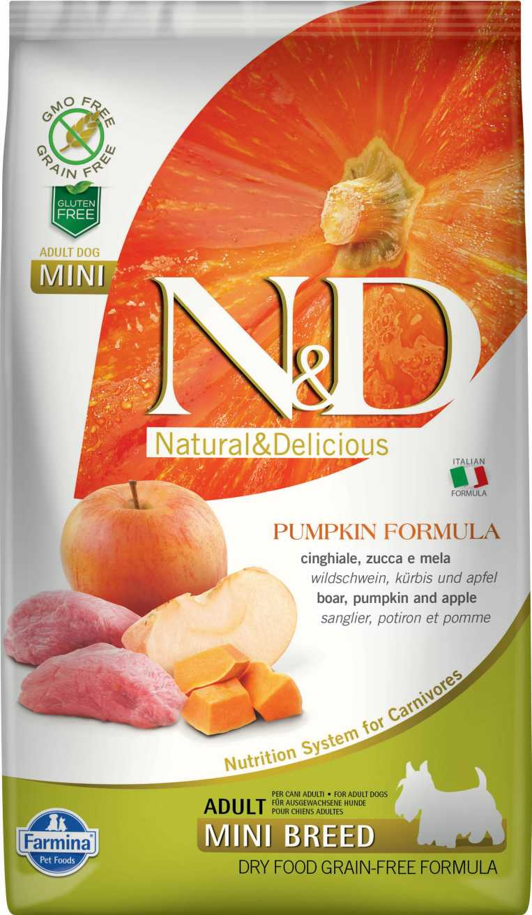 N&D dog GF PUMPKIN adult mini boar & apple 7 kg