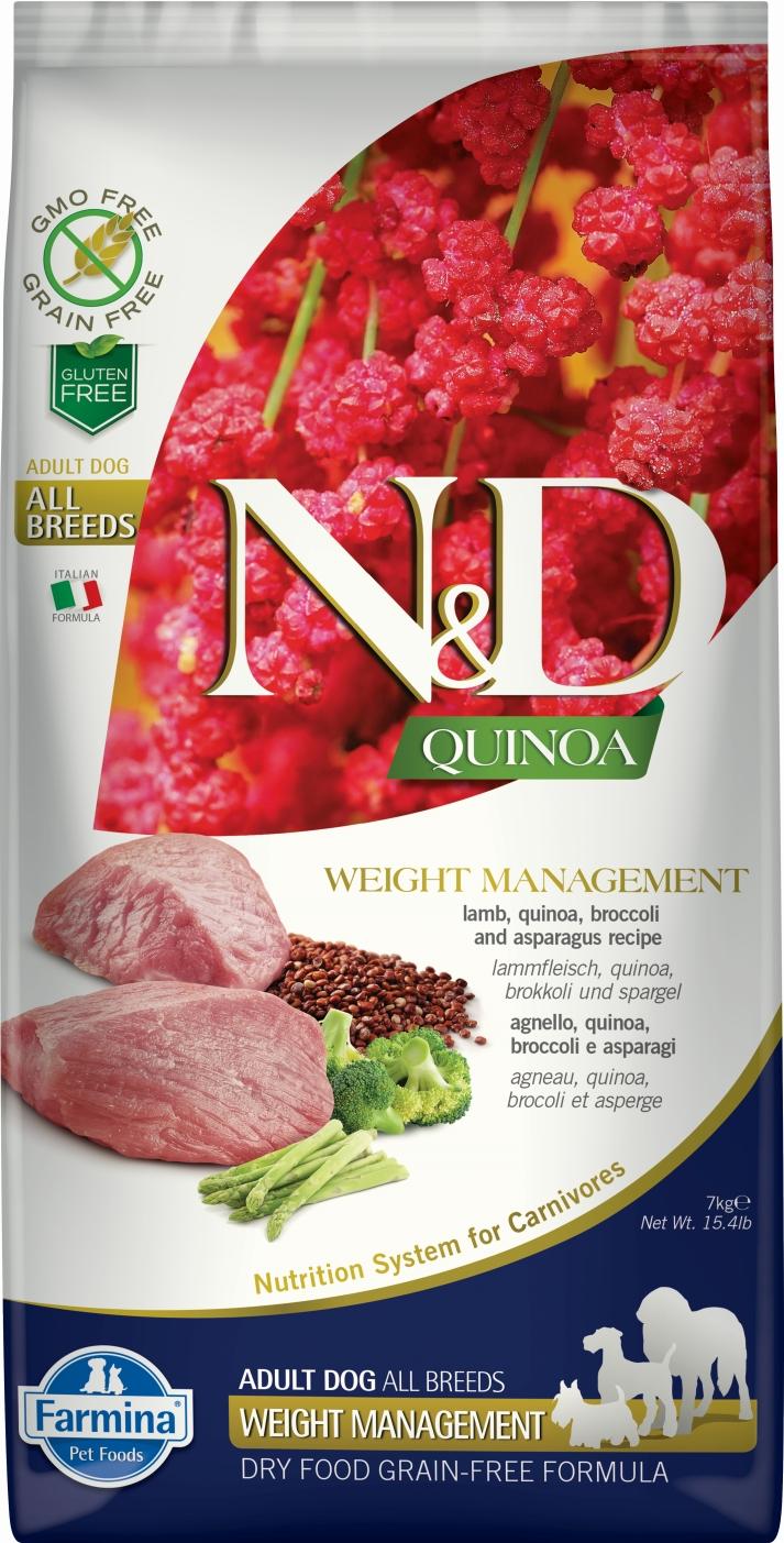 N&D dog GF QUINOA Weight Managment Lamb 7 kg