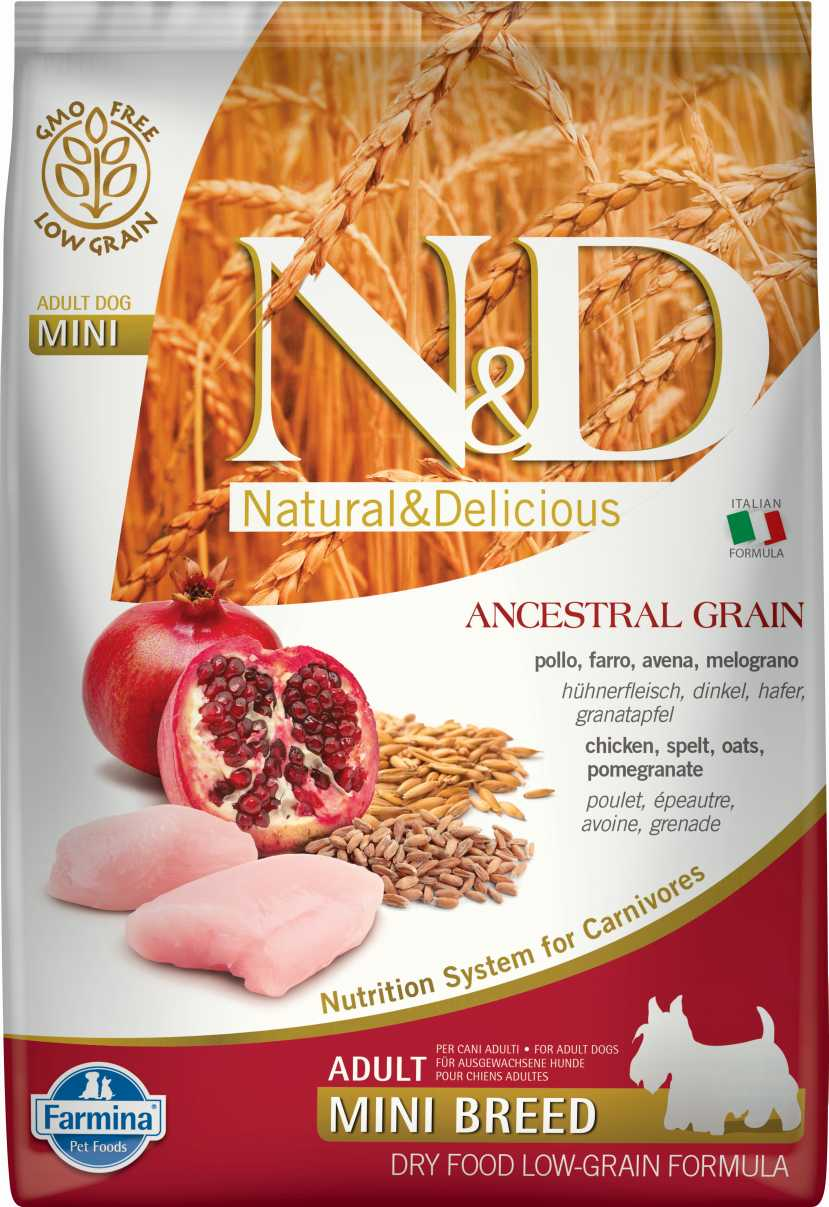 N&D dog AG adult mini chicken&pomegranate 2,5 kg
