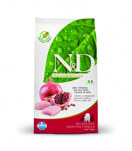 N&D dog GF puppy large chicken&pomegranate 2,5 kg