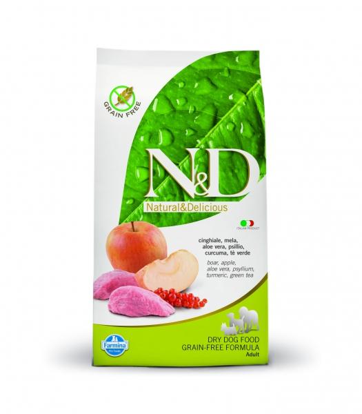 N&D dog Prime adult medium&maxi boar&apple 2,5 kg