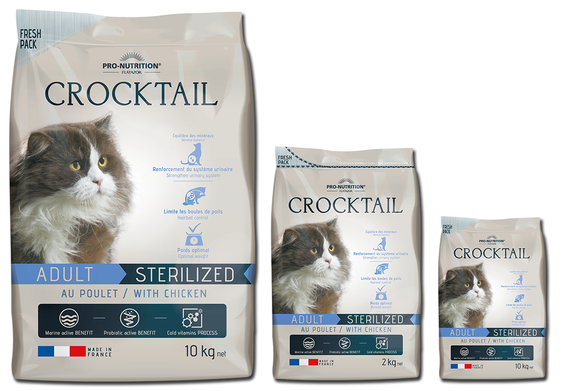 Flatazor Crocktail adult sterilised with chicken 2 kg