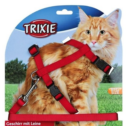 Trixie postroj s vodítkom pre mačky XL 34-57 cm/1,2m